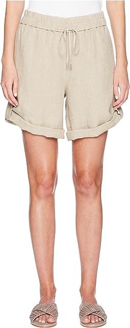 Rolled Organic Linen Shorts