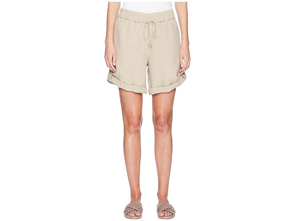 Eileen Fisher Rolled Organic Linen Shorts (Undyed Natural) Women