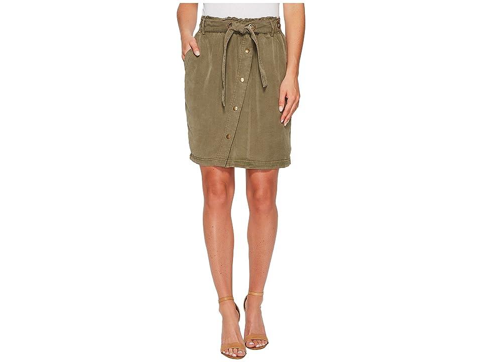 Splendid Paperbag Waist Skirt (Vintage Olivine) Women