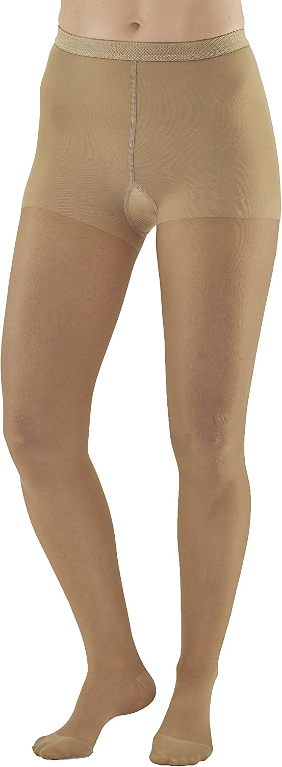 Ames Walker Women's AW Style 33 Sheer Support Closed Toe Compression Pantyhose 20 30 mmHg Beige X Large 33 XL Beige Nylon/Spandex