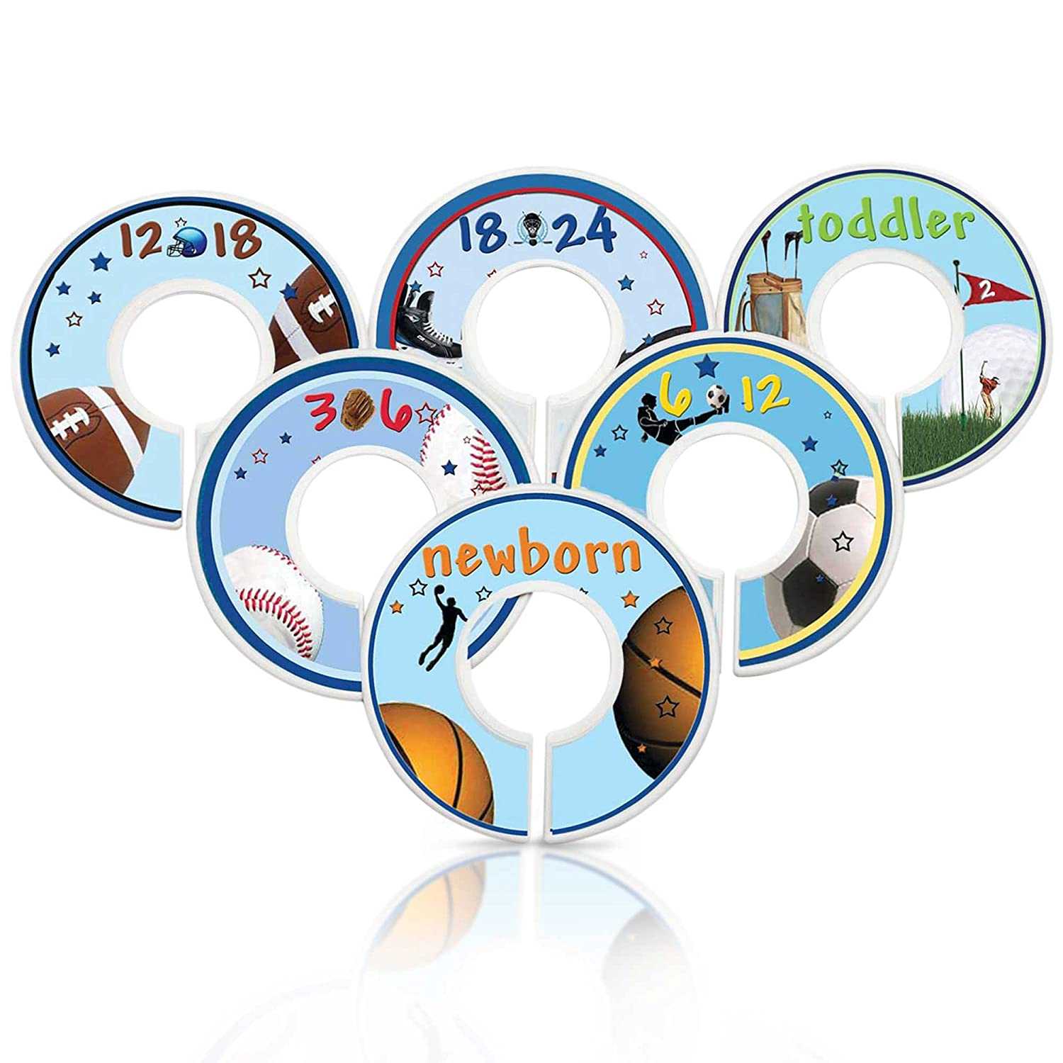 Mumsy Goose Nursery Safety and trust Closet Dividers Sports Baby C Large-scale sale Theme Boy