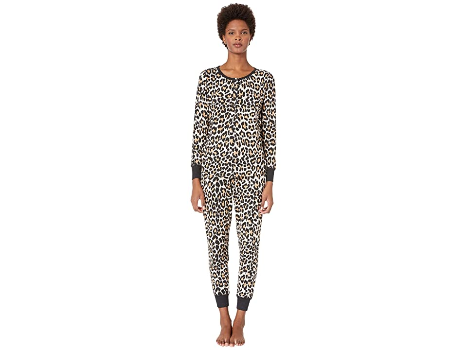 Kate Spade New York Printed Jogger Pajama Set (Leopard) Women