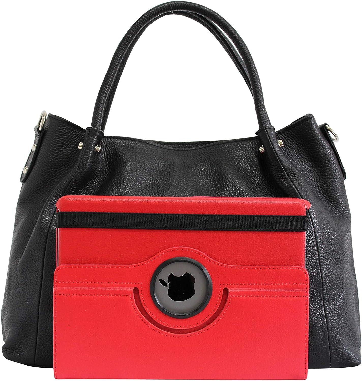 AmbraModa GLX28 - Sac a main en cuir pour femme, sac porté épaule Taupe Foncé