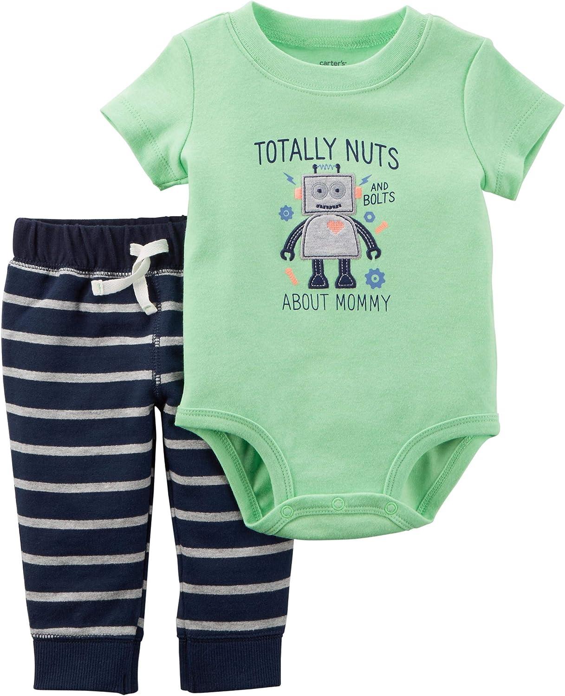 Carters Baby Boy 2-Piece Neon Bodysuit Pant Set