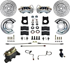 GPS Automotive FC0002-405X - Manual Conversion Kit with MaxGrip Cross Drilled & Slotted Rotors
