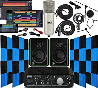 Mackie Onyx Artist 1-2 Audio/Midi interface With Pro Tools First Software Studio Bundle with CR3-X Pair Studio Monitors, 2...