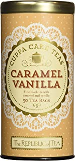 The Republic of Tea Caramel Vanilla Cuppa Cake, 50 Tea Bags, Blended Fine Black Tea, Gluten-Free