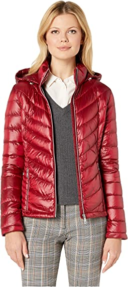 Blanc Noir Puffer Jacket With Reflective Trim Shipped Free At Zappos