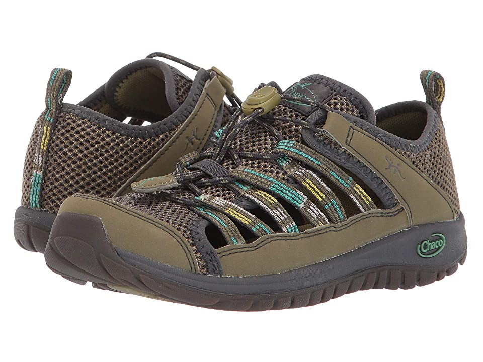 Chaco Kids Outcross 2 (Toddler/Little Kid/Big Kid) (Green) Boys Shoes
