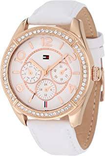 Women's 1781251 Sport Rose Gold White Leather Multi-Function Watch