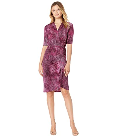Kenneth Cole New York Cinched Drawstring Dress (Beet Wash) Women