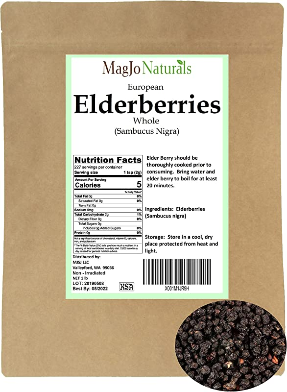 Elder Berry Whole Dried 1 Pound