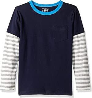 Amazon/ J. Crew Brand- LOOK by crewcuts Boys' Long Sleeve Layered Tee
