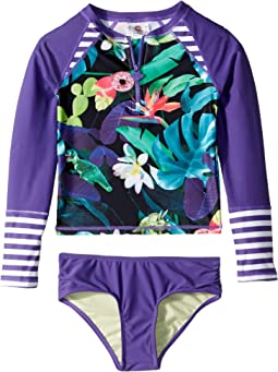 Long Sleeve Rashguard Set (Toddler/Little Kids/Big Kids)