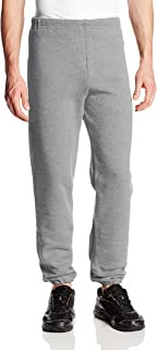 Men's Dri-Power Closed Bottom Sweatpants (No Pockets), Oxford, 4X-Large