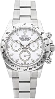 Rolex Daytona Mechanical (Automatic) White Dial Mens Watch 116520 (Certified Pre-Owned)