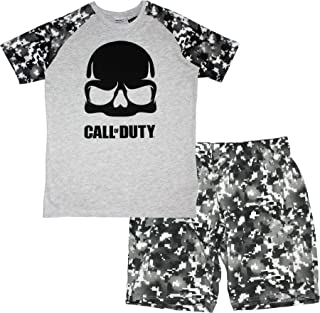 2fadd4c52 Call of Duty Mens Novelty Pyjamas pjs Set Short Sleeve T-Shirt and Shorts  100