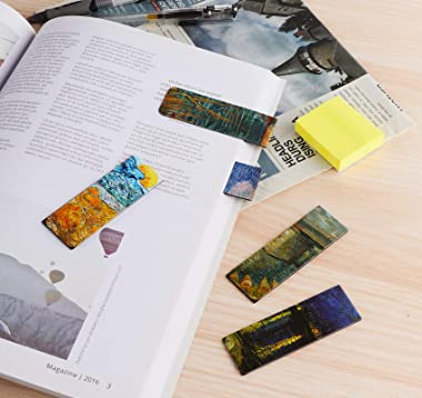 Magnetic Bookmarks 14Pcs Book Mark 3.1'' Page Magnetic Markers with Magnet Book Markers Page Clip for Students Teachers Schoo