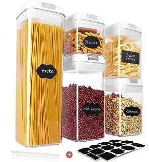 Qissep Stapelbare Vorratsdosen & Frischhaltedosen Set 5 Stück, BPA Frei,..