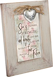 Cottage Garden Clothed Strength Dignity Natural Taupe Locket Easel Back Picture Frame