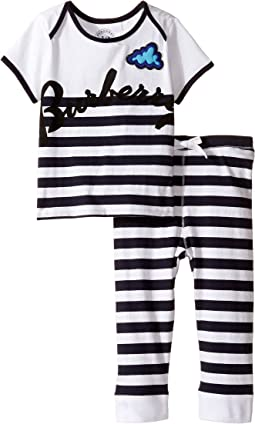 Burberry Kids - Stripe Cloud Set (Infant)