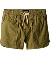 Woven Twill Shorts in Faded Olive (Big Kids)