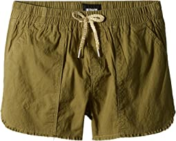 Hudson Kids - Woven Twill Shorts in Faded Olive (Big Kids)