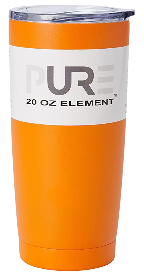 PURE Drinkware PWDR-20E-PC4 Stainless Steel Drinkware, 20oz, Orange