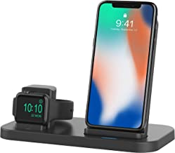 BEACOO 2 in 1 Phone Wireless Charger Stand & Charging Station Compatible with Apple Watch Apple Series 4/3/2/1/iPhone 11/X Xs MAX/8 Plus/8 (Not fit for iWatch 5 Charger)