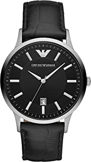 Emporio Armani Men's Stainless Steel Dress Watch with Quartz Movement