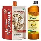 Dabur Hommade Ginger Garlic Paste, 200g and Dabur Cold Pressed Mustard Oil - 1L