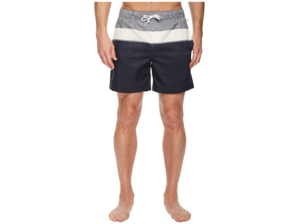 Original Penguin Color Block Swim Trunk (Dark Sapphire) Men