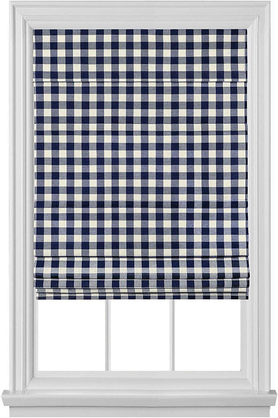 PowerSellerUSA Cordless Buffalo Plaid Bombing new work Roman Shades Curtains Manufacturer OFFicial shop for