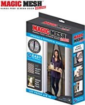 "Magic Mesh New and Improved Hands Free Magnetic Screen Fits Doors Up to, 83"" x 39"", Black"