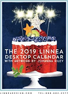 Linnea Design 2019 Desktop Calendar 5 X 7 Inches Art by Johanna Riley…