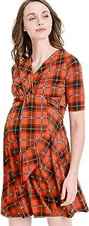 Hello MIZ Women's Floral Faux Wrap Side Tie Nursing and Maternity Dress