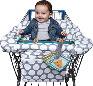 Boppy Shopping Cart and High Chair Cover—Preferred | With Integrated Storage Pouch | 2-Point Safety Belt | Wipeable, Machi...