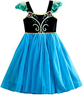 Girls Frozen Princess Elsa Anna Costume Fairy Infant Toddler Tutu Dress