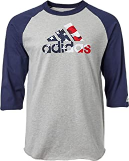 Camiseta de béisbol para Hombre (Manga 3/4, diseño de Rayas triples)