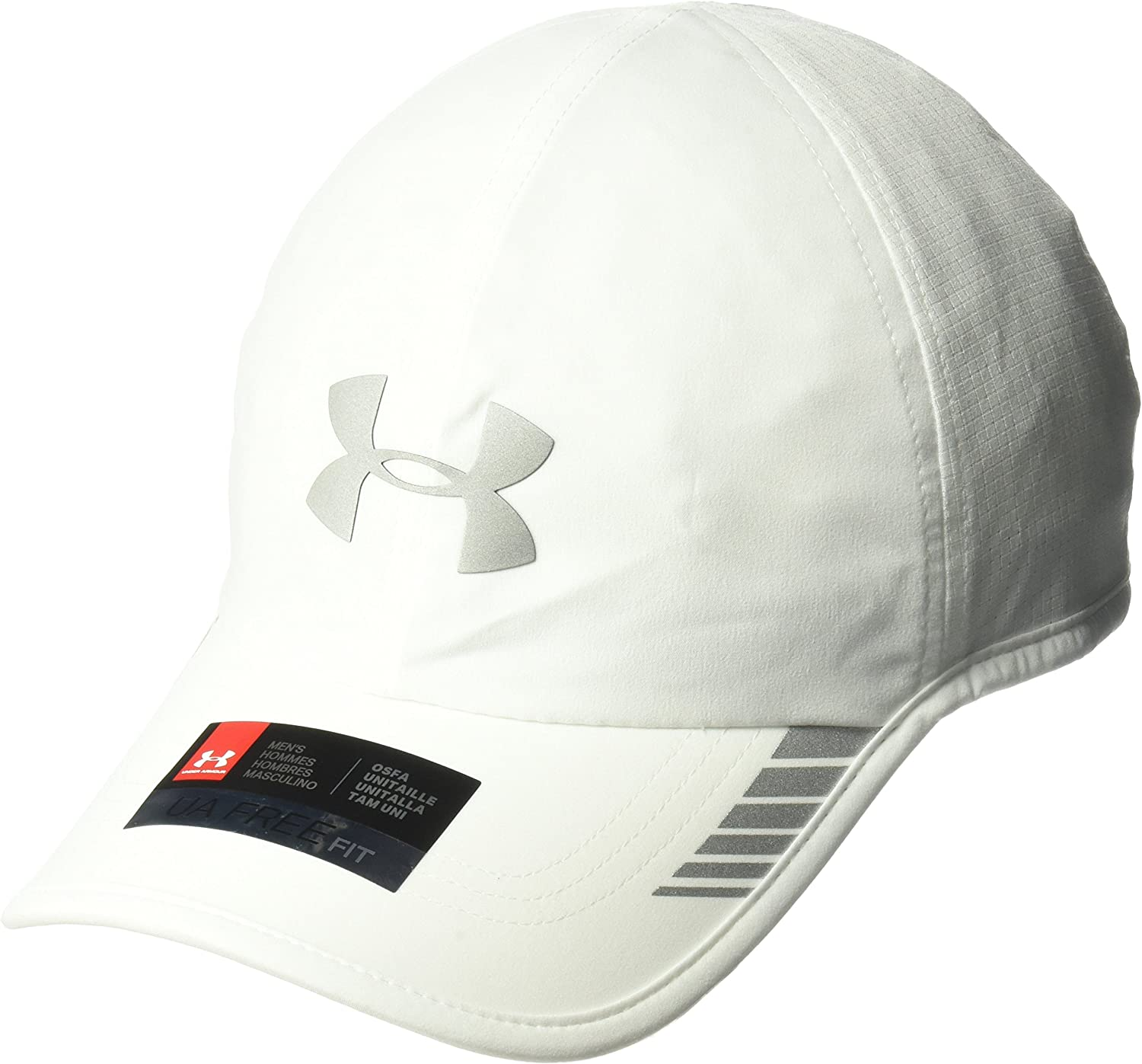 Under Armour Men's Launch ArmourVent Cap , White (100)/Silver , One Size Fits All : Sports & Outdoors