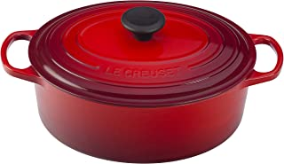 Le Creuset of America Enameled Cast Iron Signature Oval Dutch Oven, 8 quart, Cerise (Cherry Red) - coolthings.us