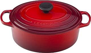 Le Creuset of America Enameled Cast Iron Signature Oval Dutch Oven, 8 quart, Cerise (Cherry Red)