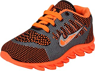 Bersache Boys Orange Synthetic Running Shoes for Kids