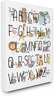 The Kids Room by Stupell Boho Animal ABCs Stretched Decorative Wall Hangings