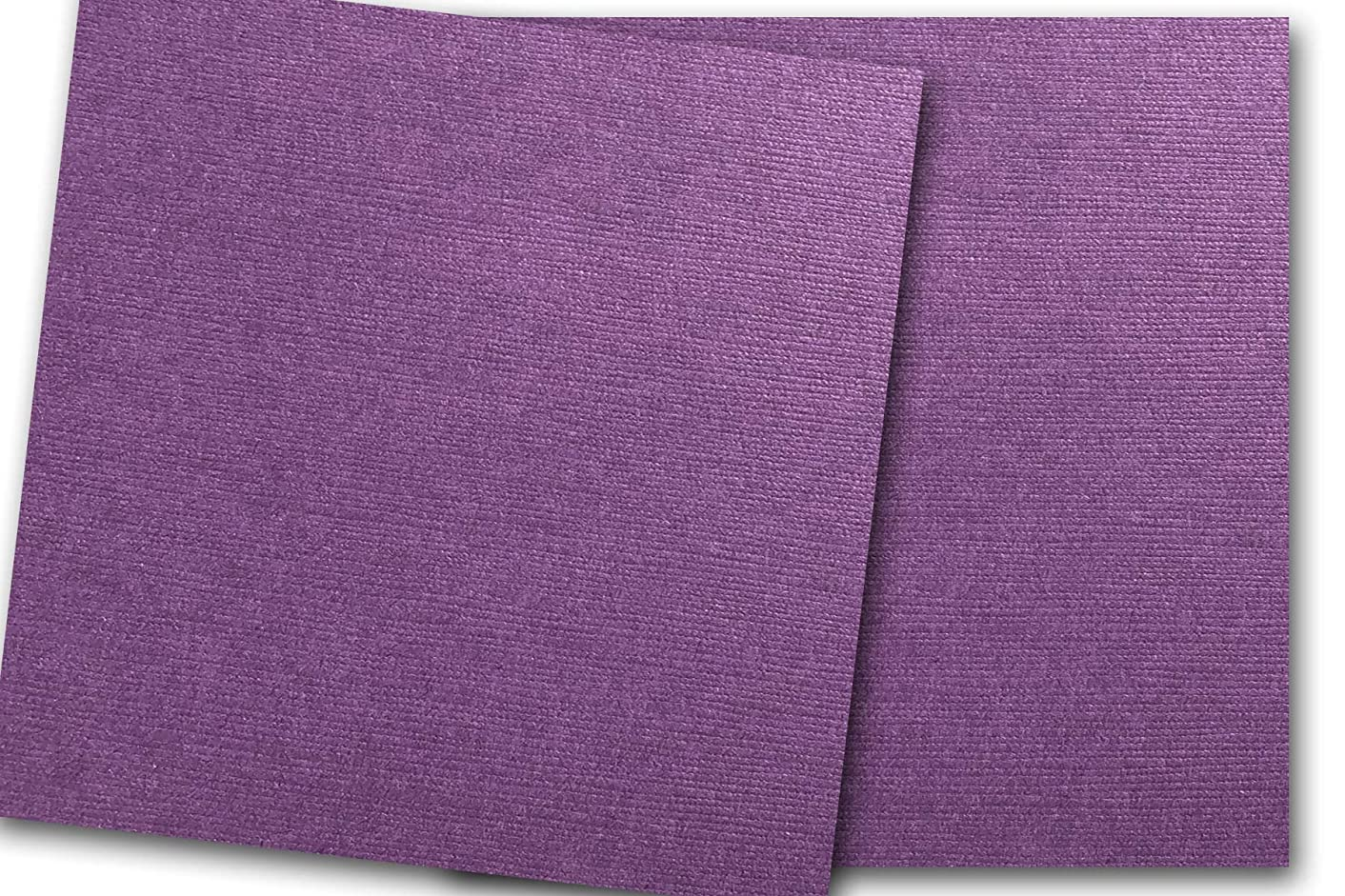 Premium DCS Canvas Textured Plum Purple Card Stock 20 Sheets - Matches Martha Stewart Plum - Great for Scrapbooking, Crafts, DIY Projects, Etc. (12 x 12)