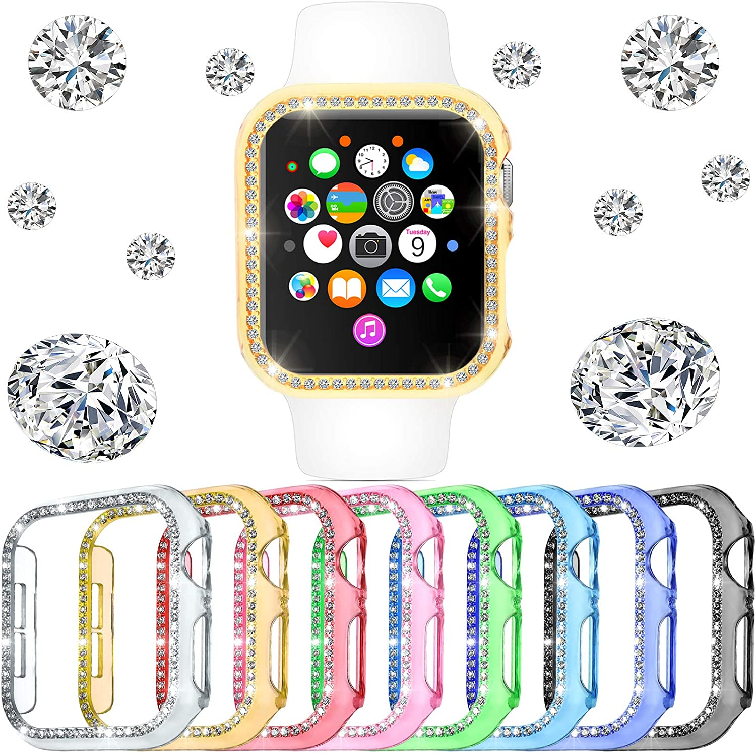 8 Pieces Watch Protector Max 71% OFF Compatible with Long-awaited 5 Series 4 6 SE iWatch