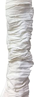 Royal Designs CC-14-WH Silk-Type Fabric Cord & Chain Cover with Touch Fastener, 4 Feet, White