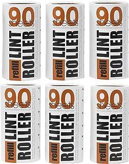 comprar comparacion Korbond Pack ahorro de recambios para rodillo quitapelusas: 6 rollos de 90 hojas, recogen pelusas, polvo, pelos y pelo de ...