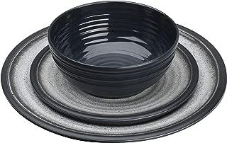 Flamefield Granite 12 Piece Melamine Dining Set - Grey