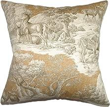 The Pillow Collection Feramin Toile Pillow, Safari Front